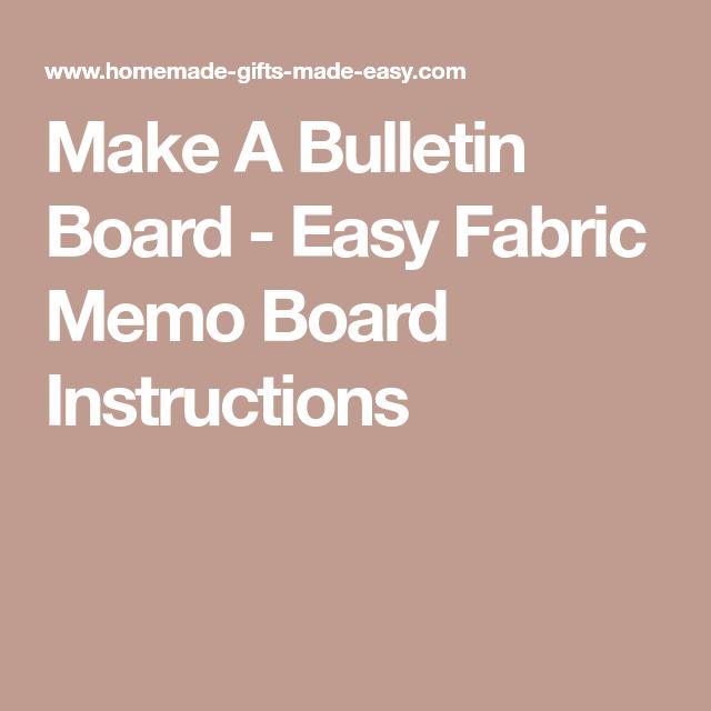 The  Best Fabric Memo Boards Ideas On   Diy Memo