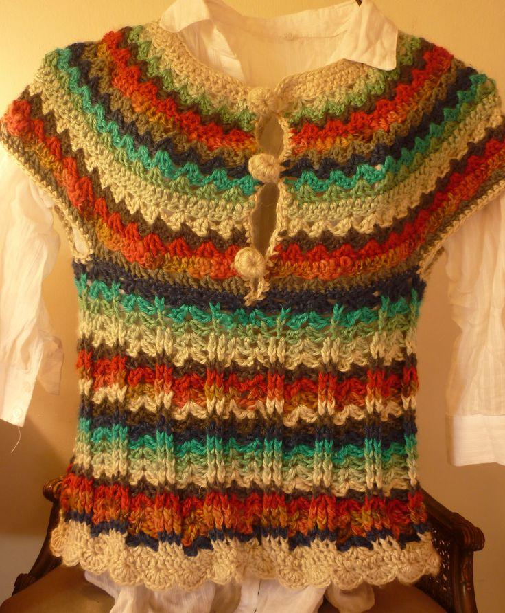 Chaleco de lana tejido al crochet | tejidos para disfrutar | Pinterest