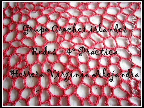Red con clones knot- crochet irlandés - YouTube