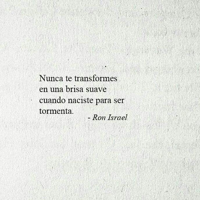 Nunca...