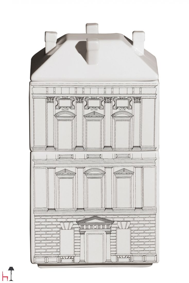Set of three Palace-Palazzina ceramic containers by Seletti.