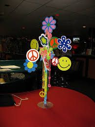 60s party centerpiece - Google Search