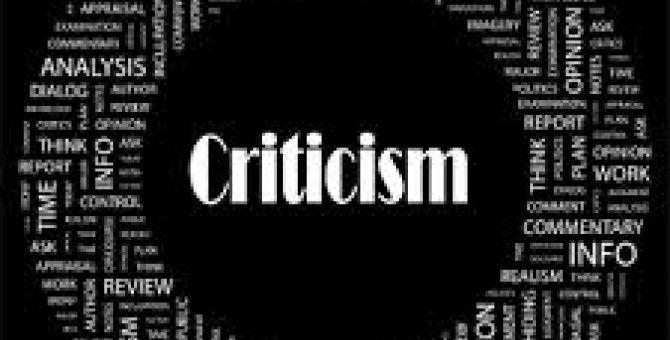 Criticism - Part 2