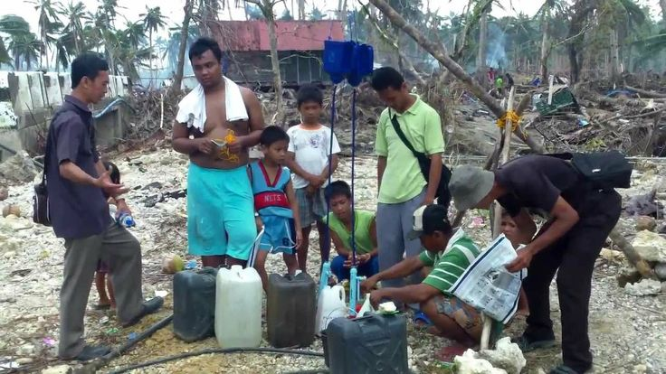 LifeStraw Family 1.0 used to set up a safe water station in Carmen, Hernani, Samar - Thirsty Ground International