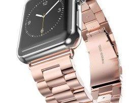 iWatch náramok na Apple hodinky z článkovej ocele - ružové zlato http://www.luxusne-doplnky.eu
