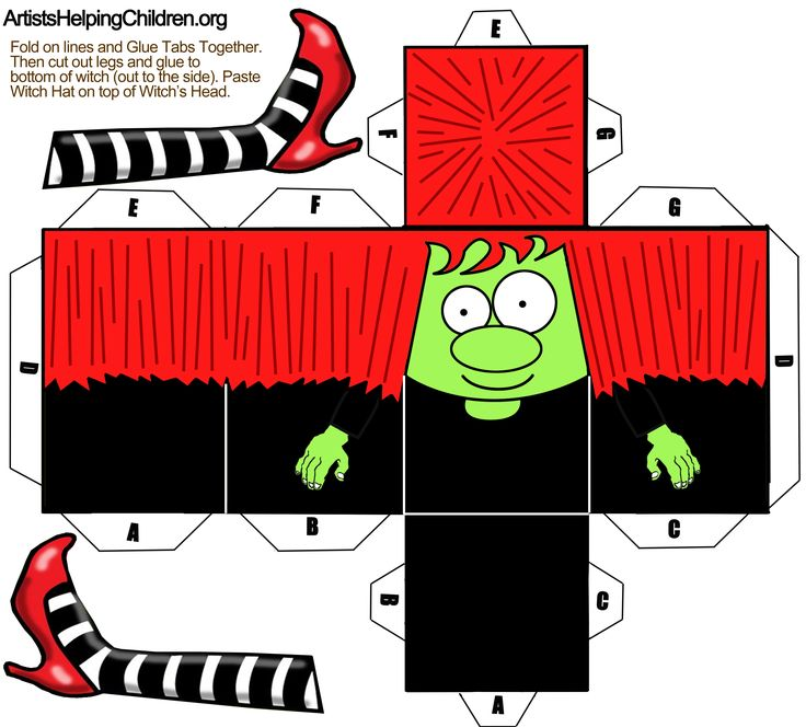 paper crafts templates | ... Print Out for Halloween « Free Paper Toys « Kids…