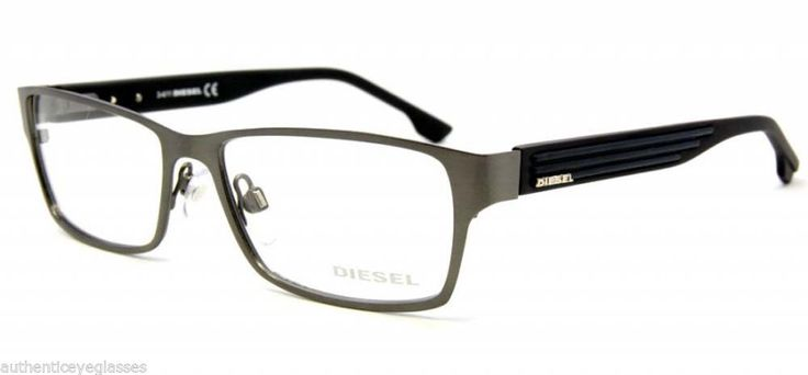 Diesel Half Frame Glasses : Diesel DL5014 008 Mens Eyeglasses Gunmetal Optical Frame ...