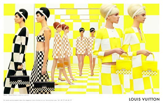 With Louis Vuitton's AW13 collection looming, I felt the need to post about their last collection. Quite simply one of the most amazing things I've seen. So 60's, and the idea to use an escalator as part of the runway was genius.  PS: yellow is obviously the best colour ever, i'm so happy it featured heavily this season.