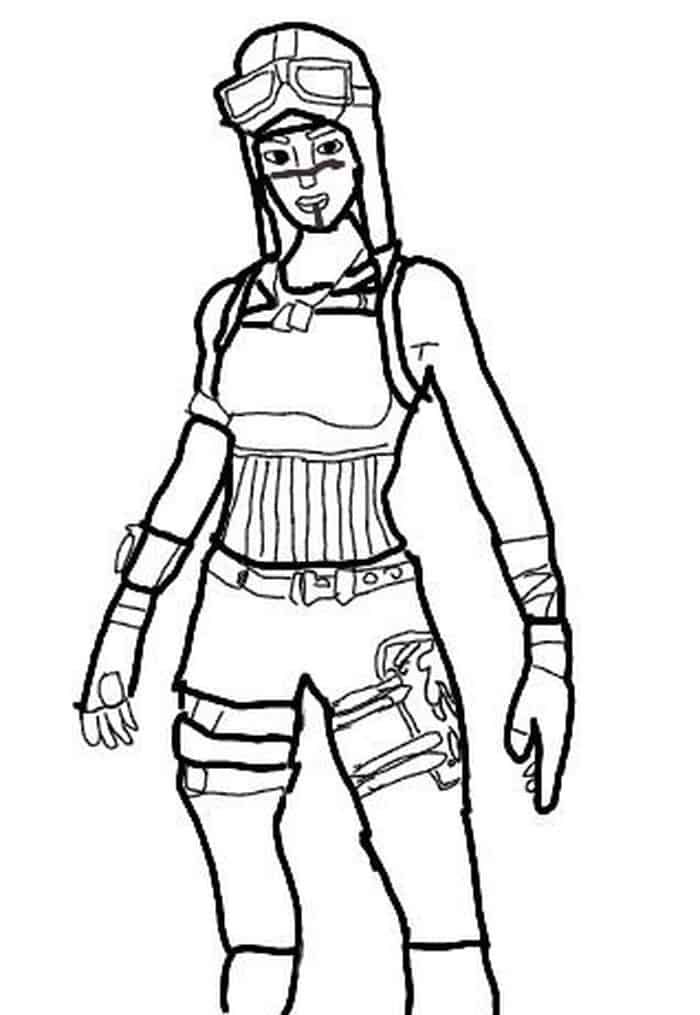 Fortnite Coloring Pages Renegade Raider Cartoon Coloring Pages