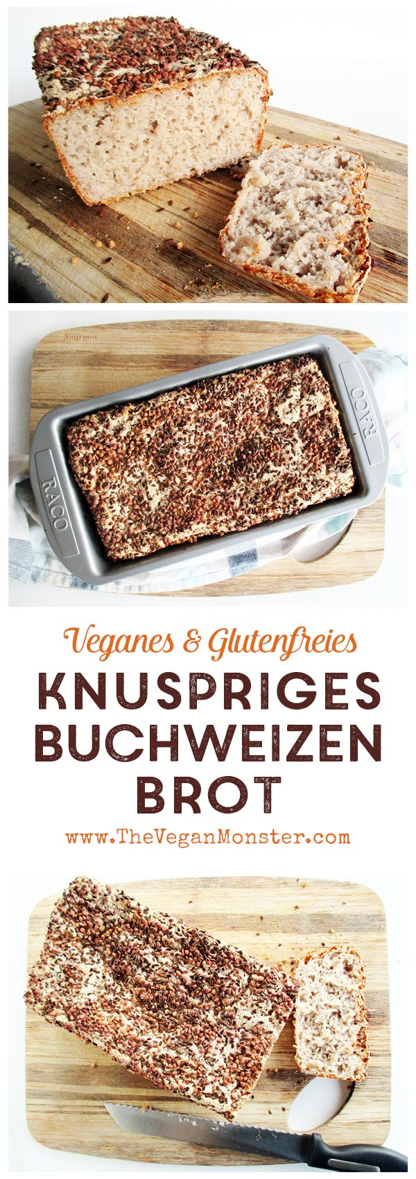 FODMAP-armes Rezept für knuspriges Buchweizen Brot. Glutenfrei, laktosefrei, fr…