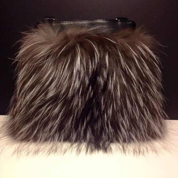 High Quality Real Silver Fox Fur Crossbody Bag by TrixiCookies