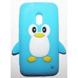 Lumia 620 vaaleansininen pingviini silikonisuojus.