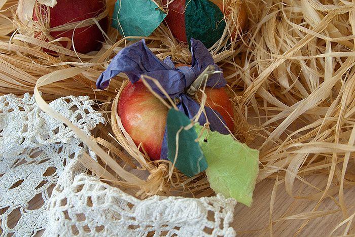 упаковка яблок