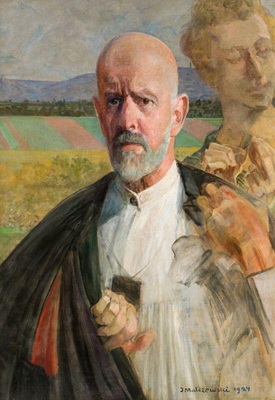 Jacek Malczewski - Self-portrait (1924) with muse