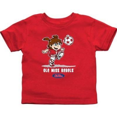 Ole Miss Rebel Apparel : Ole Miss Rebels Infant Girls Soccer T-Shirt - Red