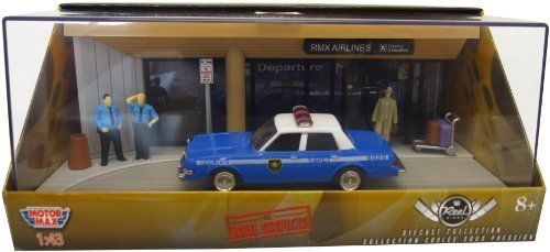 """Motormax 1:43 Die-Cast Dodge - The Usual Suspects Diorama by Motormax. $15.99. Authentic wheels and real rubber tires. Official licensed product from the movie """"The Usual Suspects"""" and Dodge. Includes plastic display case. Collectors set includes a car, figures and accessories that re-creates a popular scene from the movie. A great gift for car and movie enthusiasts. From the Manufacturer                A """"Reel Rides"""" Series Diorama by Motormax featuring a scene from the movie..."""