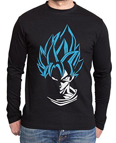 Super Son Goku Manga larga de hombre Goku Dragon Master Son Ball Vegeta Turtle Roshi Db, Farbe2:Schwarz/Blau;Grᅵᅵe2:XL #camiseta #friki #moda #regalo