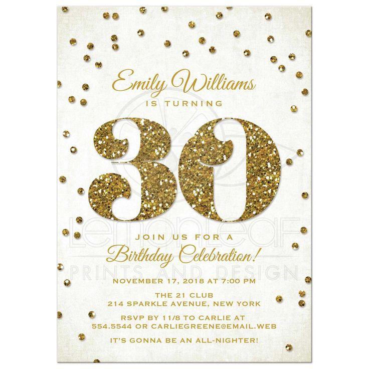 30th Birthday Invitations 30th Birthday Party
