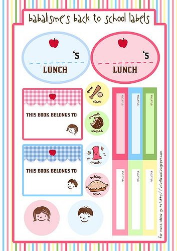 find this pin and more on kids school labels printables and templates - Free Kids Printables