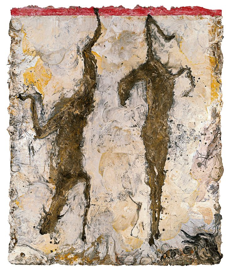 Miquel Barceló  Male and Female Goats (Cabrit i cabrida), 1992  Mixed media on canvas  297 x 246 cm  Guggenheim Bilbao