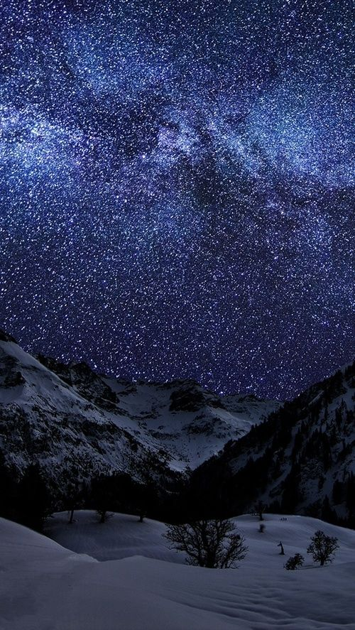 Starry Night and Winter Landscape