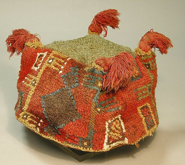 Four-Cornered Hat  Date:7th–9th century Geography:Bolivia (?) Culture:Tiwanaku Medium:Camelid hair Dimensions:Height 4 in.