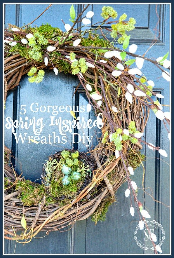 5 GORGEOUS SPRING INSPIRED WREATHS TO MAKE