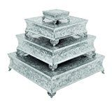 Deco 79 Aluminium Square Cake Stand Home Decor 22 by 18 by 14 by 6-Inch Set of 4  List Price: $578.33  Deal Price: $154.79  You Save: $17.57 (10%)  Deco 79 Aluminium Square 6-Inch  Expires Jan 11 2018