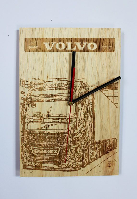 Check out this item in my Etsy shop https://www.etsy.com/listing/495475458/handmade-wooden-wall-clock-volvo-truck