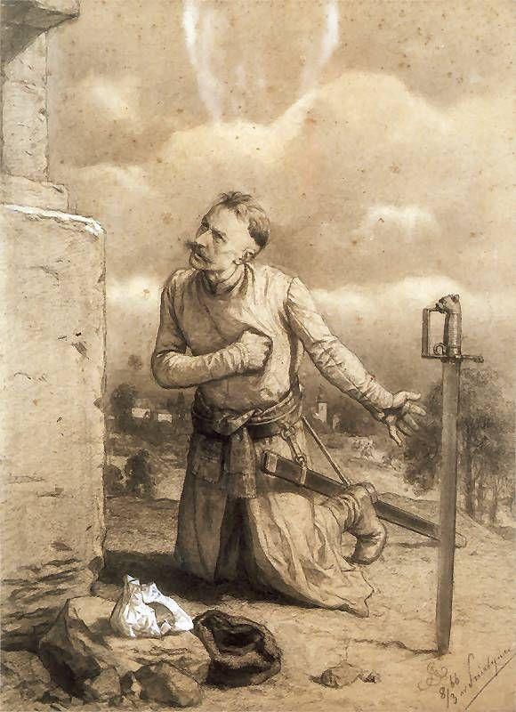 """art by Artur Grottger """"Szlachcic pod figurą"""""""