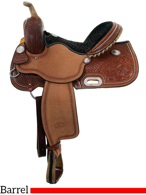 """14"""" to 16"""" Billy Cook BW Barrel Racing Saddle 1930"""