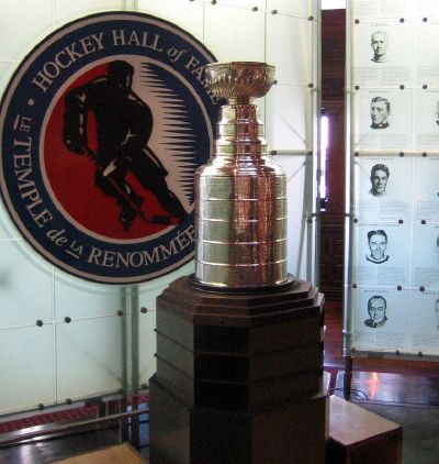 The Hockey Hall of Fame in Toronto: where you can walk right up to the Stanley Cup for a photo op.