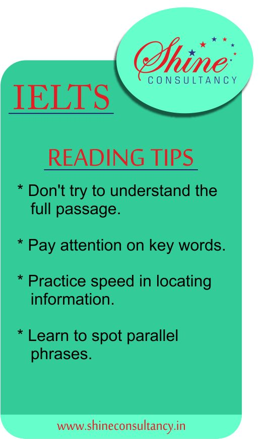 Tips for students who are planning to give there IELTS exam or preparing for IELTS.  #tip1  #visitus at #website: http://shineconsultancy.in/  You can also #callus on 022-28928911/22/33  #shineconsultancy #studyabroad #overseas #education #ielts #tip1  #coaching #ielts #pte #toefl #coachingcenterinborivali #borivali #mumbai