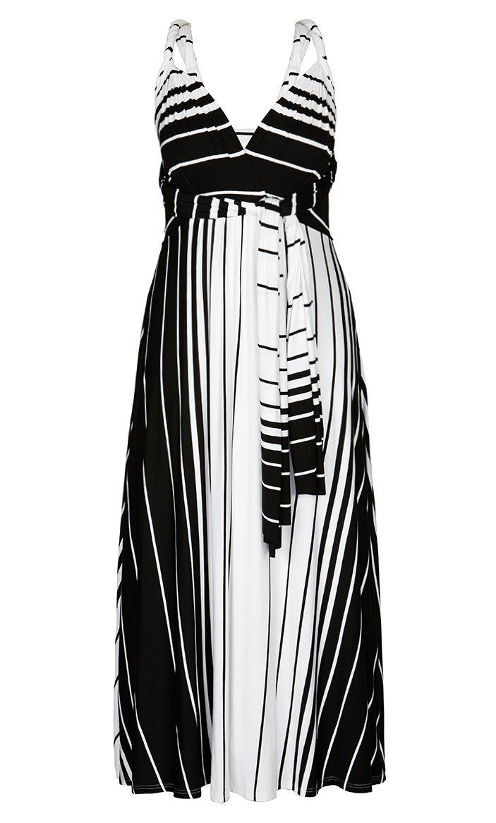 City Chic - HOLIDAY HALTER MAXI DRESS - Women's Plus Size Fashion