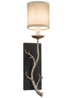 Adirondack 1-Light Sconce in Silver Leaf | House of Antique Hardware