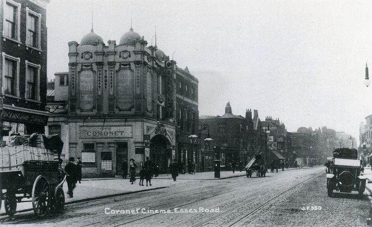 Coronet Cinema, Essex Road and Packington Street, c 1915