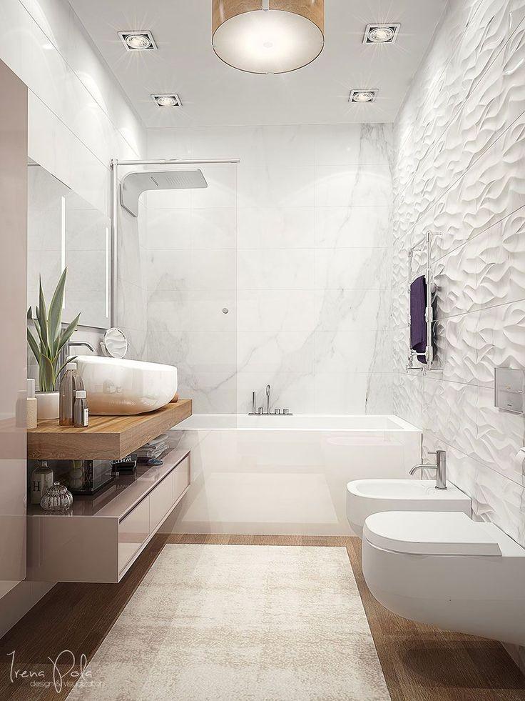 ❤ Entra en el post para ver tips de decoración baños modernos. Este baño de estilo moderno nos ha fascinado. ¡Es hermoso! Para más pines como éste visita nuestro tablón. Ah! ▷ Y no te olvides de repinearlo si te gustó! #baños #decoracion #bathroom #decor