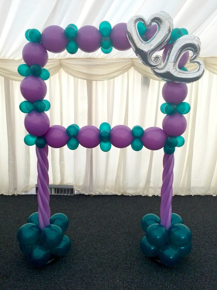 284 best balloons images on pinterest balloon columns for How to make a rainbow arch