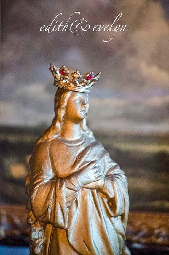 Antique French Our Lady of Assumption Statue by edithandevelyn