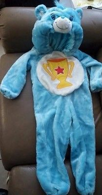 Care Bear Champ Bear Deluxe Halloween Costume Full Body Trophy 3t-4t EXCELLENT