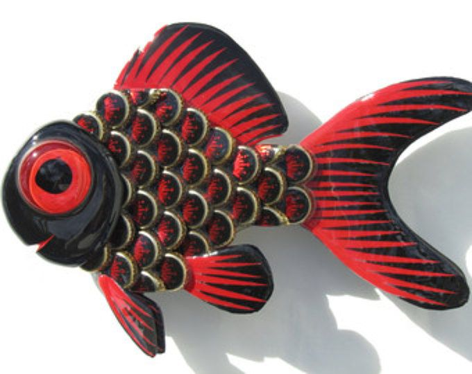 Goldfish botella de Metal tapa peces pared arte Budweiser Select tapas de botellas