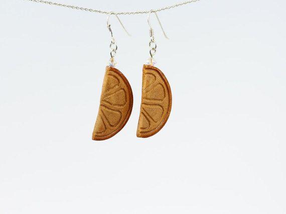Orange Slices Avocado Seed Art Sterling silver by CosmiziAvocado