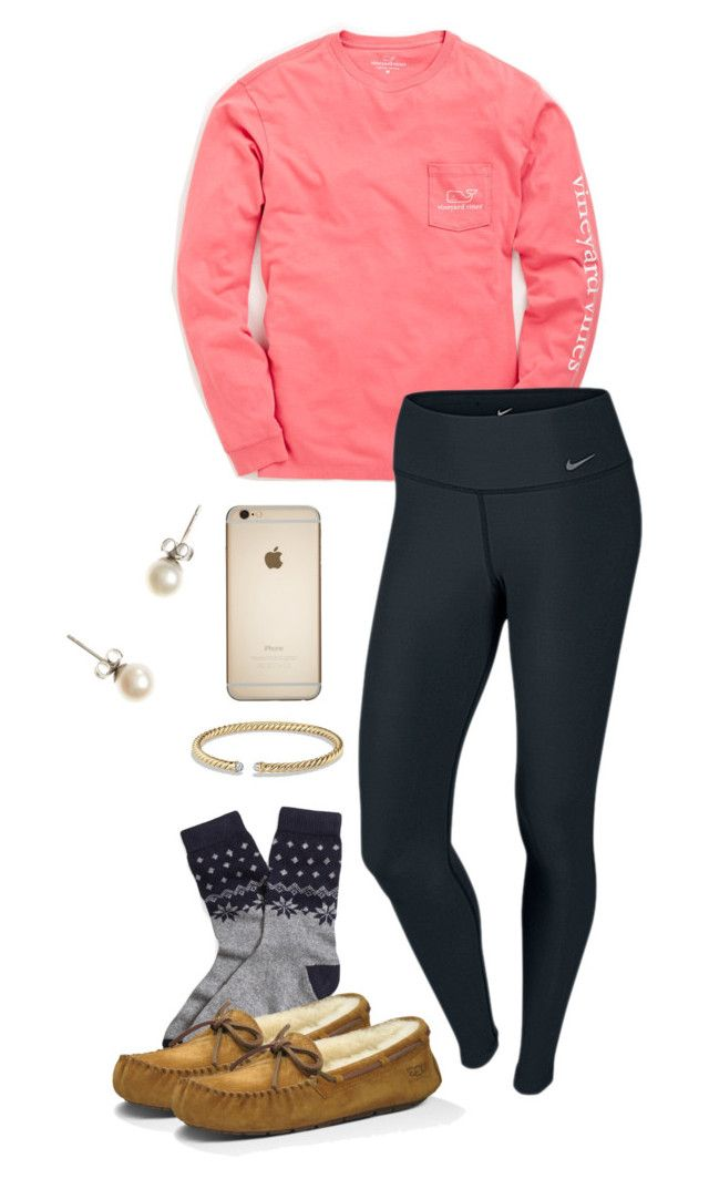 """""""{oorn}~"""" by thedancersophie ❤ liked on Polyvore featuring Vineyard Vines, NIKE, Brooks Brothers, UGG Australia, J.Crew and David Yurman"""