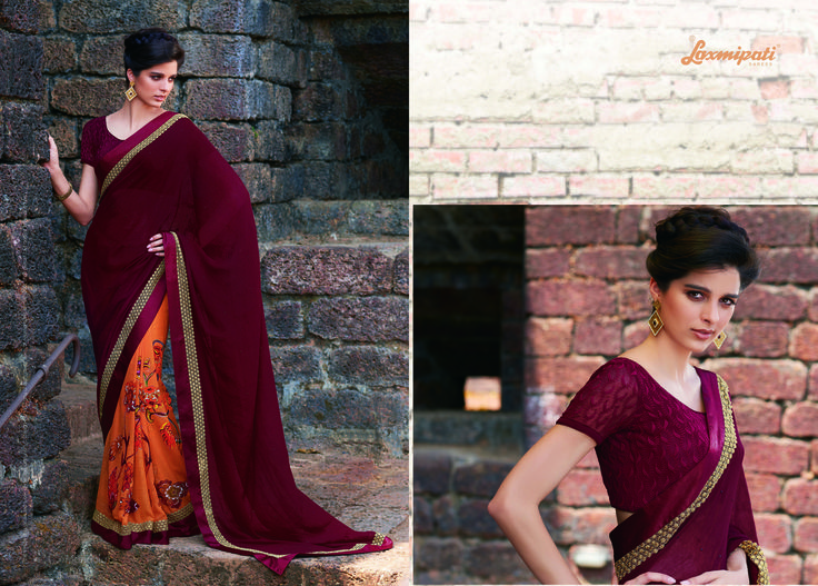 Browse Our Laxmipati Maroon, Dark Orange and Brown Jute Georgette Saree for your special Occasion like Casual, Daily, Engagement, Evening, Office, Party and Wedding Wear. ‪#‎Catalogue‬ ‪#‎GURJARI‬ Price - Rs. 2192.00 Visit for more designs@ www.laxmipati.com ‪#‎ReadyToWear‬ ‪#‎OccasionWear‬ ‪#‎Ethnicwear‬ ‪#‎FestivalSarees‬ ‪#‎Fashion‬ ‪#‎Fashionista‬ ‪#‎Couture‬ ‪#‎LaxmipatiSaree‬ ‪#‎Autumn‬ ‪#‎Winter‬ ‪#‎Women‬ ‪#‎Her‬ ‪#‎She‬ ‪#‎Mystery‬ ‪#‎Lingerie‬ ‪#‎Black‬ ‪#‎Lifestyle‬ ‪#‎Life‬ ‪#‎Co