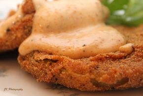Evelyn Couch Fried Green Tomatoes with a Cajun Aioli sauce