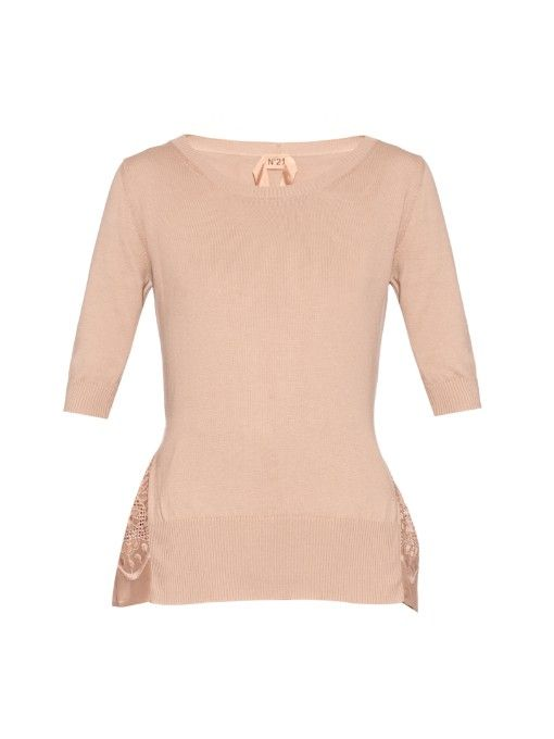 No. 21 Embroidered cotton sweater