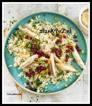 We wisten al dat we van bloemkool rijst kunnen maken en ook dat het een van de meest veelzijdige groenten is binnen het koolhydraatarm dieet. Maar wist je dat je er ook couscous van kunt maken en dit als salade op kan eten? Dit recept is Paleo en voor mensen die... #glutenvrij #lactosevrij #makreel