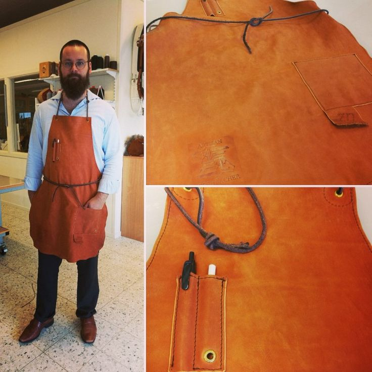Leather apron for the grill or the workbench