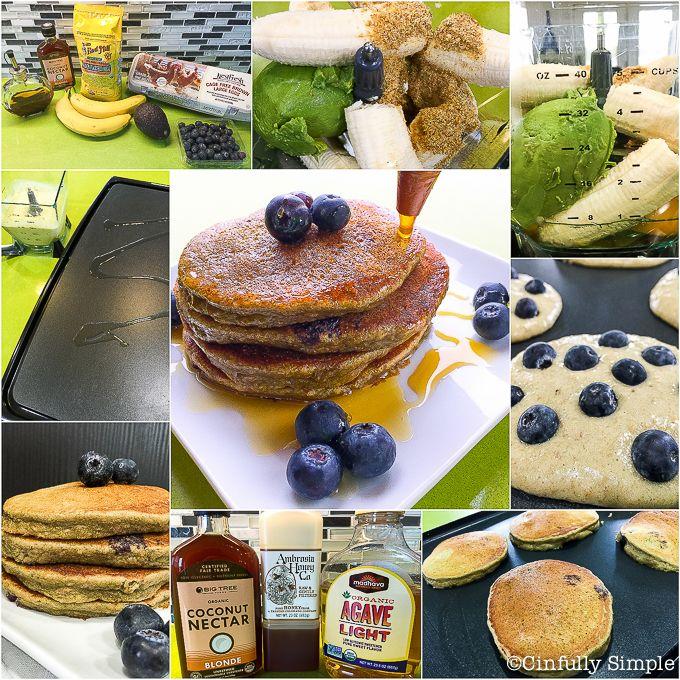 Blueberry Avocado Pancake #recipe #paleo #glutenfree #vegetarian