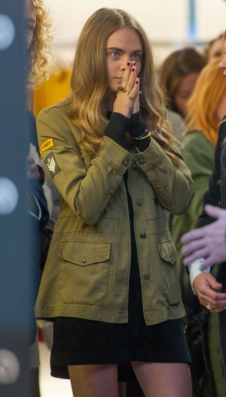 Cara Delevingne at the new Mango store opening in Milan - 23.09.15